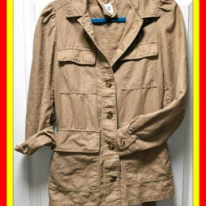 GAP UTILITY JACKET TIE BELTED BUTTON DOWN Sz SMALL